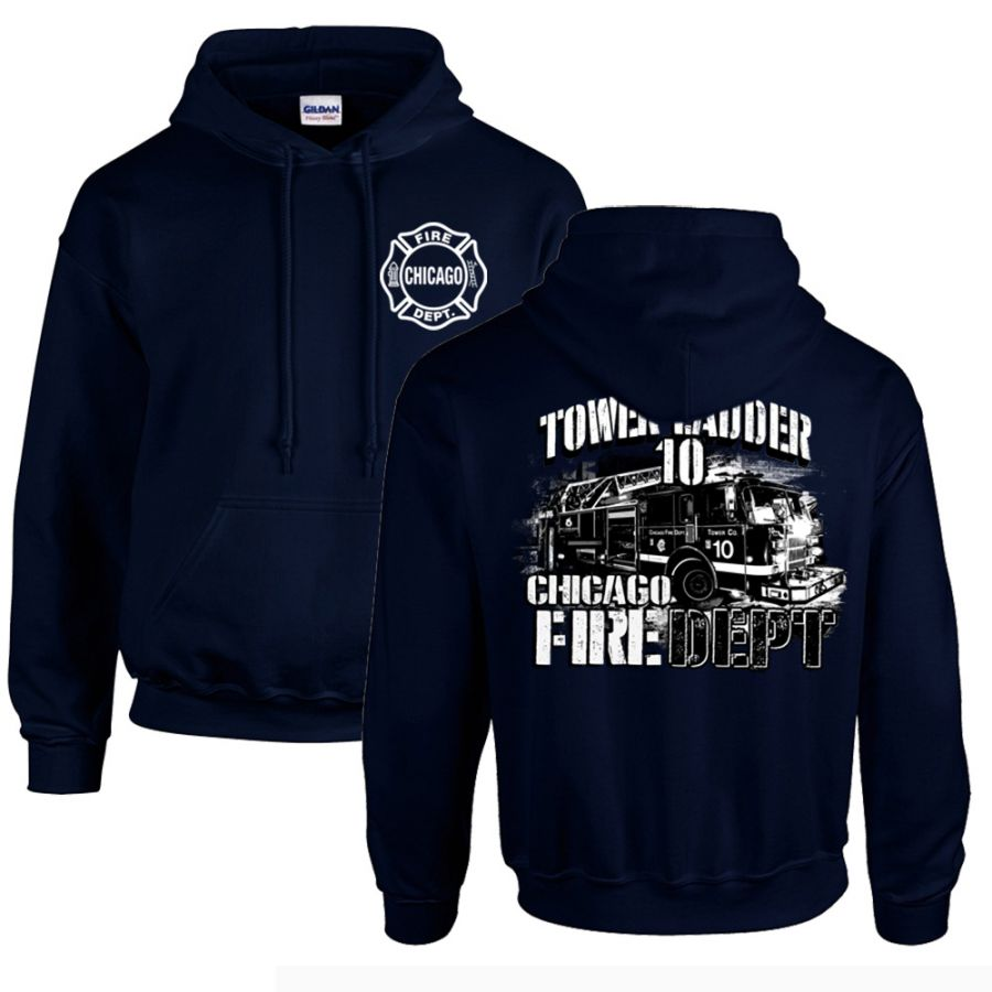 Chicago Fire Dept. - Tower 10 Hooded Sweater