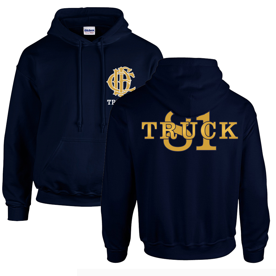Chicago Fire Dept. - Truck 81 Pullover mit Kapuze (Gold Edition)