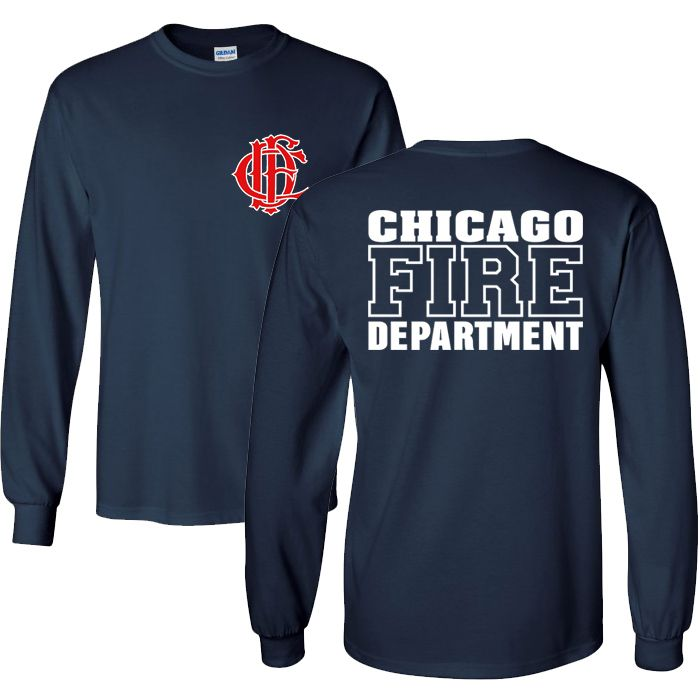 Chicago Fire Dept. - Long T-Shirt, wahlweise mit Truck 81 oder Squad 3