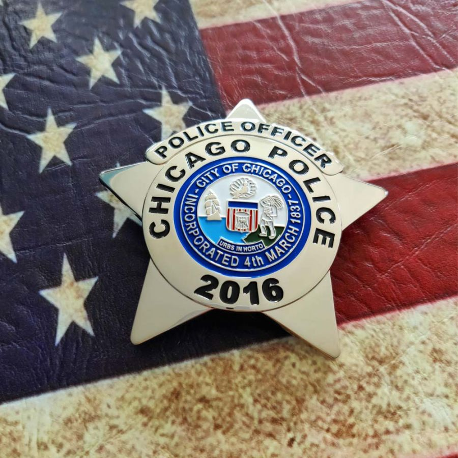 Chicago Police Dept. - Metall Badge / Abzeichen - Police Officer
