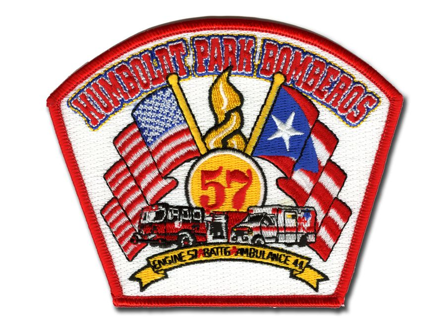 Chicago Fire Dept. - Engine 57, Battalion 12, Ambulance 44 - Patch / Aufnäher