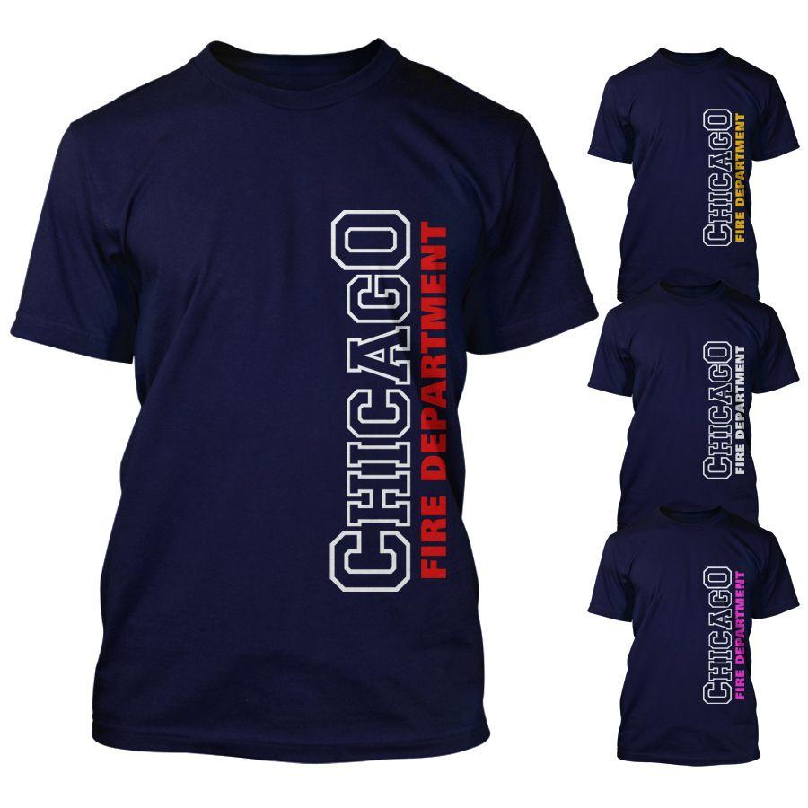 Chicago Fire Dept. - T-Shirt - Schriftzug in verschiedenen Farben