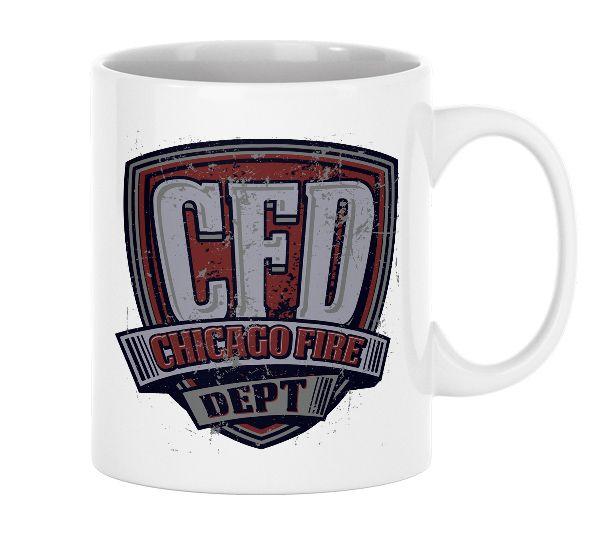 Chicago Fire Dept. - Tasse aus Keramik (Vintage Motiv)