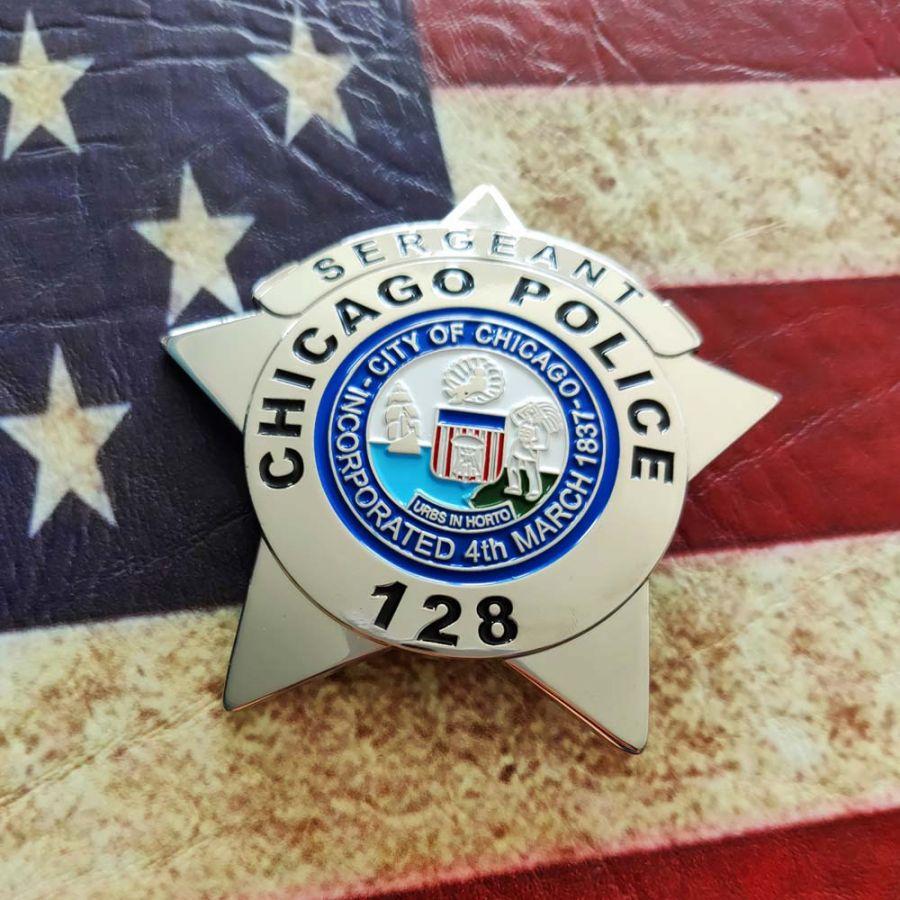 Chicago Police Dept. - Metall Badge / Abzeichen - Sergeant