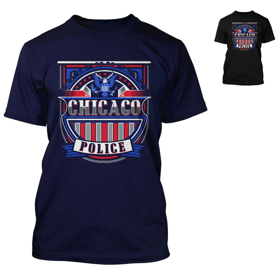 Chicago Police Dept. - T-Shirt in navy oder schwarz