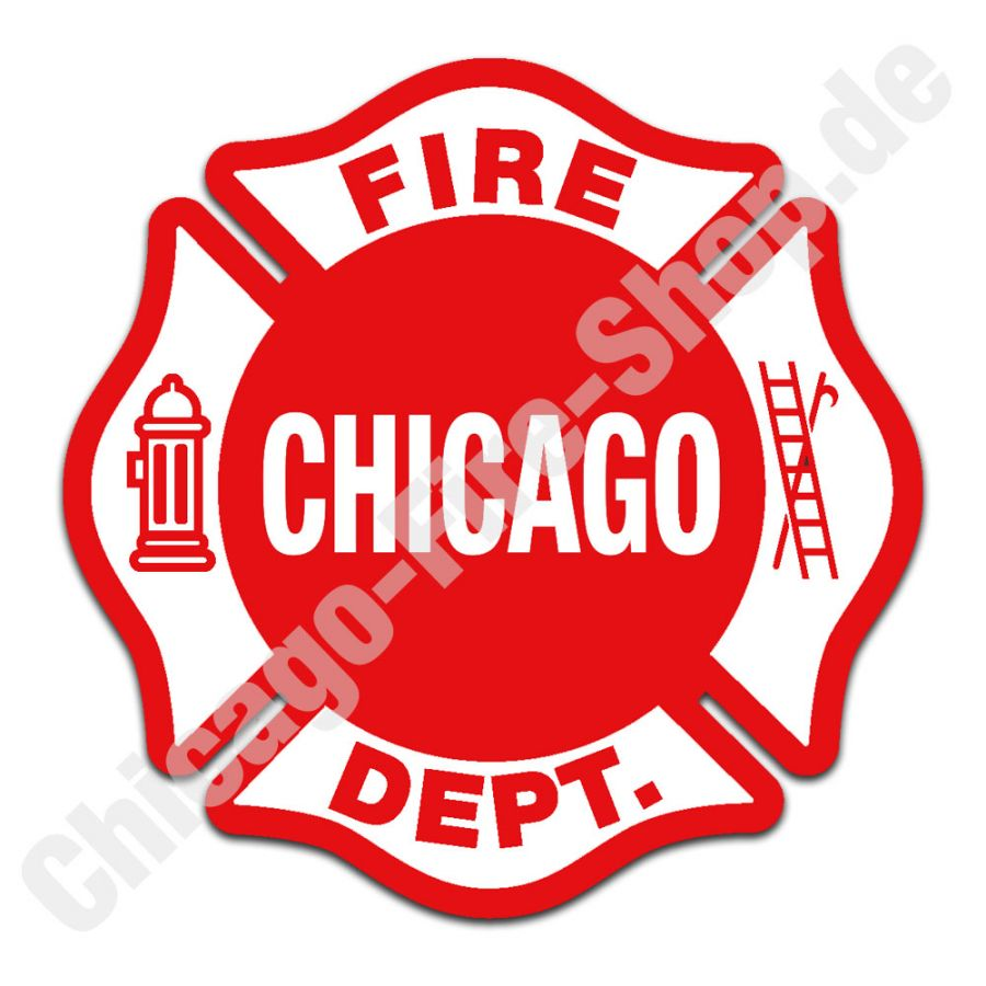 Chicago Fire Department - Aufkleber (10cm)