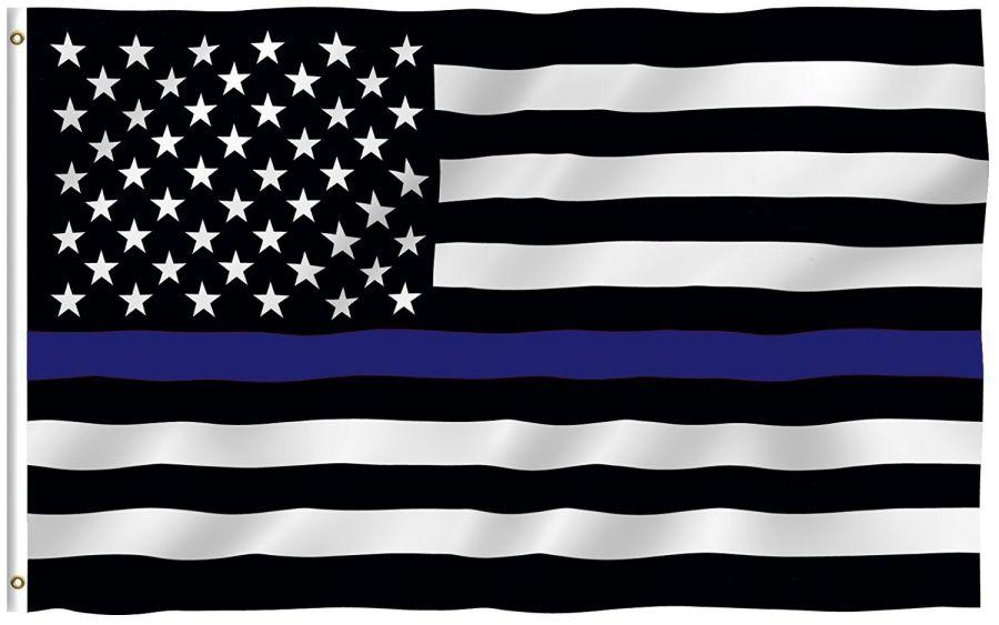 USA Flag (Blue Line - Police) 150cm x 90cm