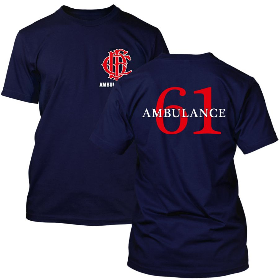 Chicago Fire Dept. - Ambulance 61 T-Shirt in navy