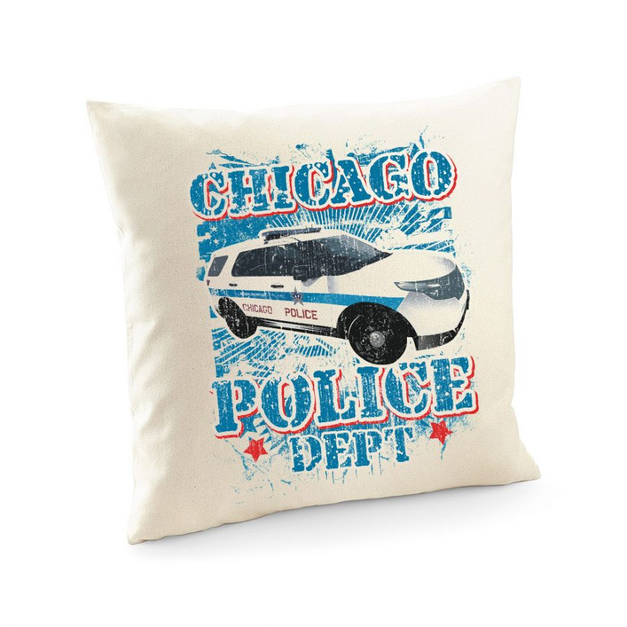 Chicago Police Dept. - Police Car - Kissenbenbezug