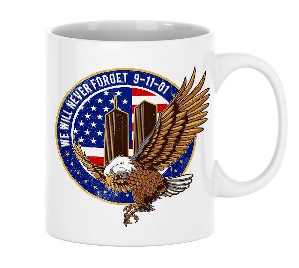 9/11 - Never forget - Tasse aus Keramik