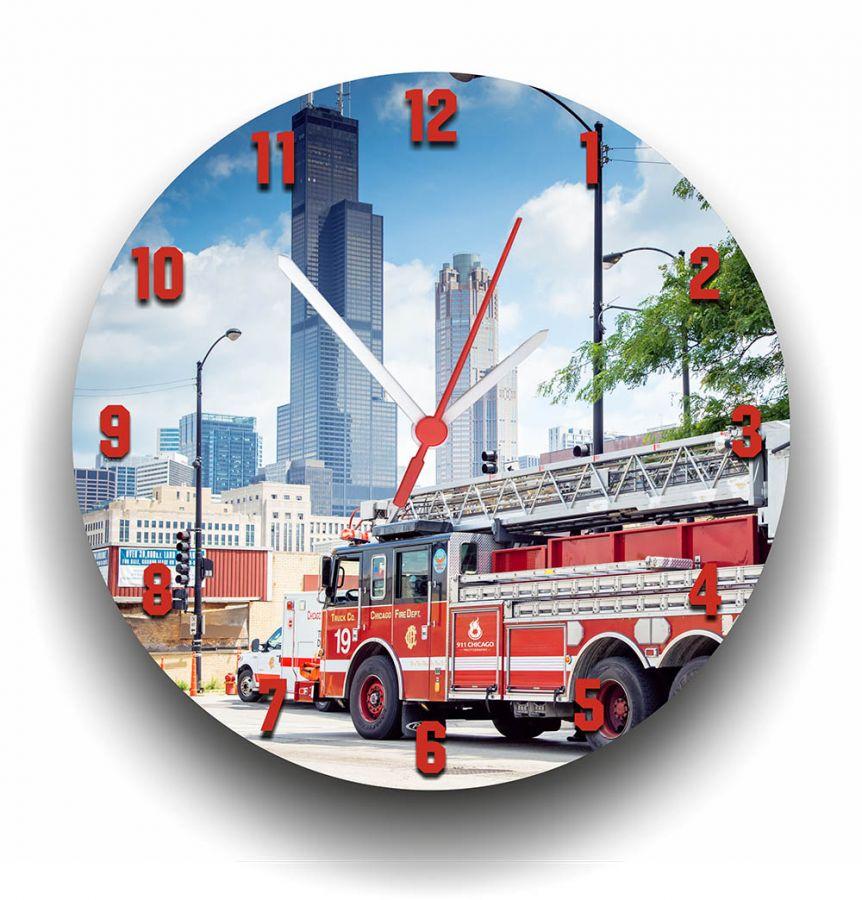 Chicago Fire Dept. - Wanduhr