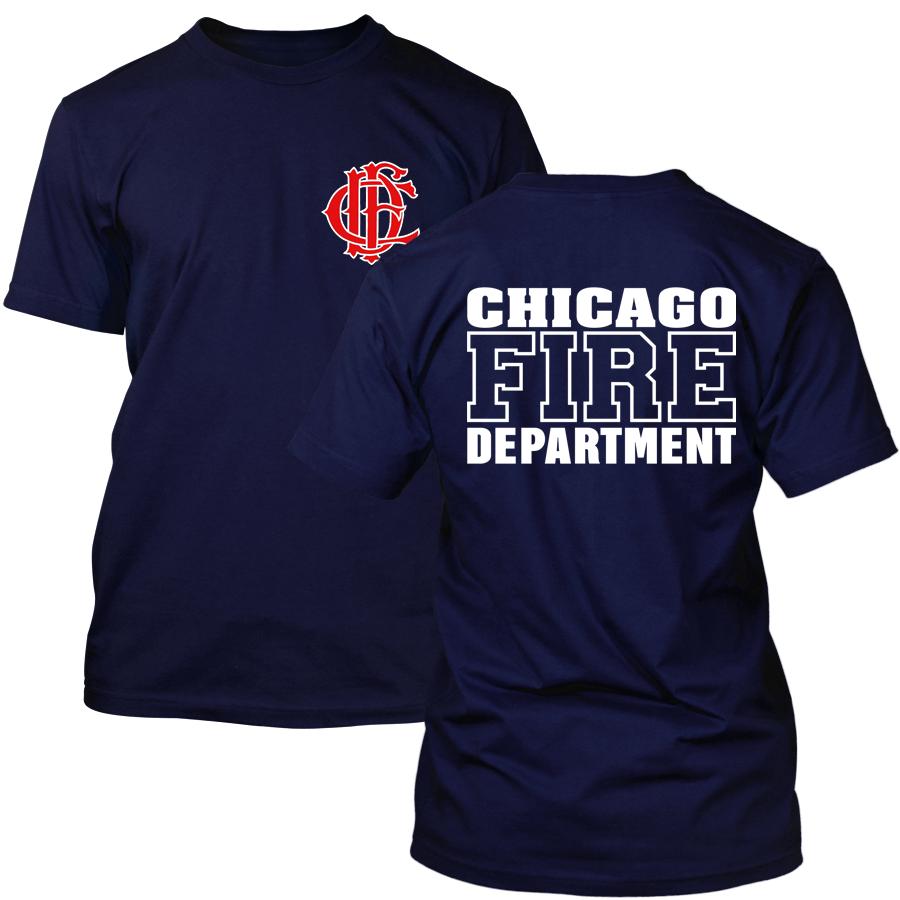 Chicago Fire Dept. - T-Shirt mit Logo und Schriftzug, wahlweise mit Truck 81 oder Squad 3