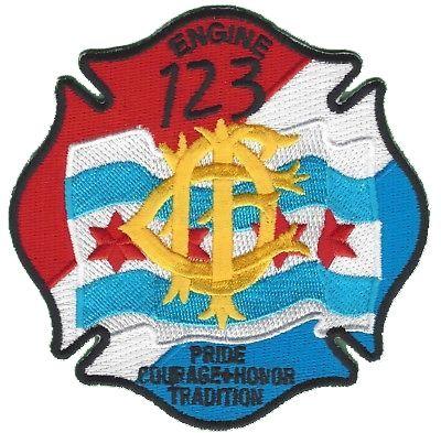 Chicago Fire Dept. - Engine 123 - Patch / Aufnäher
