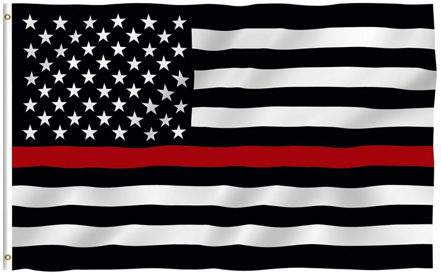 USA Flag (Red Line - Firefighter) 150cm x 90cm