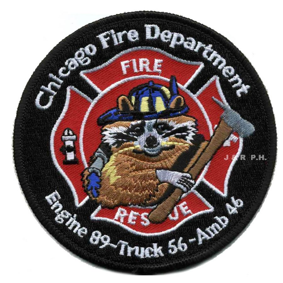 Chicago Fire Dept. - Engine 89, Truck 56, Ambulance 46 - Patch / Aufnäher