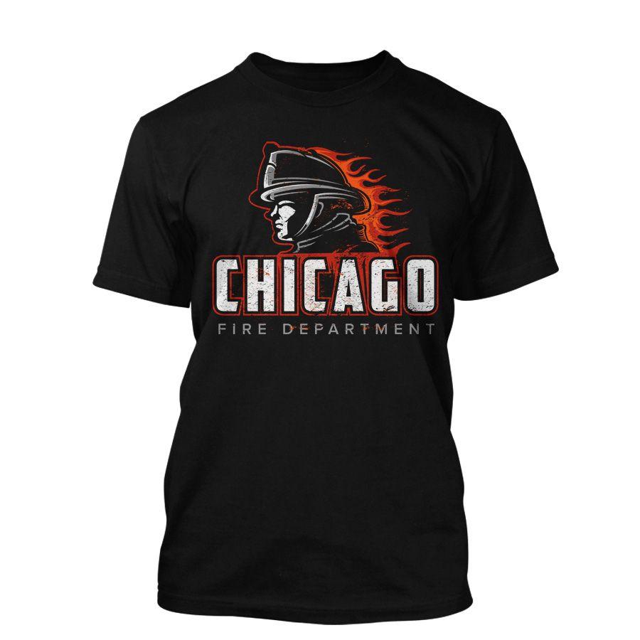 Chicago Fire Dept. - T-Shirt in schwarz